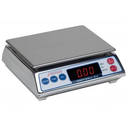Detecto AP-10 Legal For Trade Digital Portion Control Scale,9.995 lb x 0.005 lb