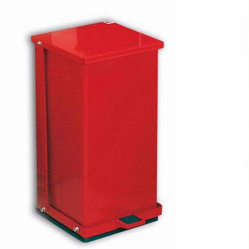 Detecto P-100R Red Baked Epoxy Steel Step-On Can Waste Receptacle 100 Quart Capacity