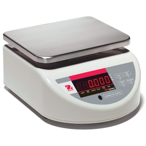 Ohaus BW3TUS Washdown Compact Bench Scale Legal for Trade, 6 lb x 0.002 lb