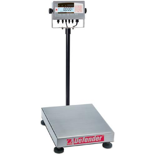 Ohaus D71XW100QL2 Defender 7000X Square Scales (250 lb x 0.02 lb) 18 x 18 x 3.75 in Platform Size