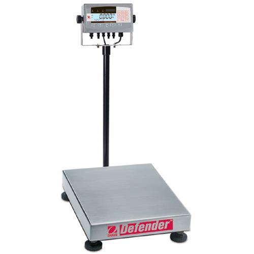 Ohaus D71XW250QX2 Defender 7000X Square Scales (500 lb x 0.05 lb) 24 x 24 x 5 in Platform Size