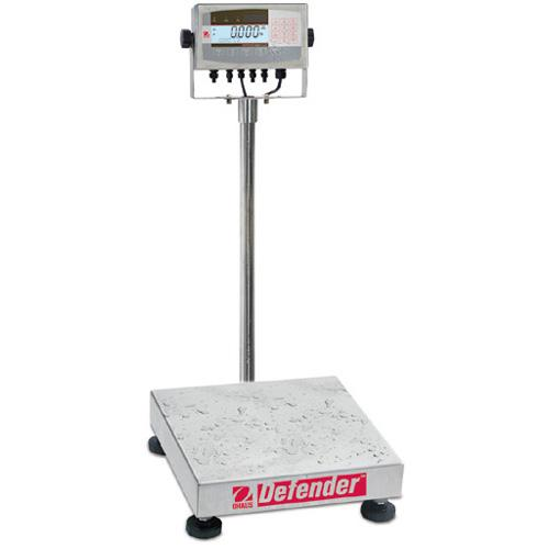 Ohaus D71XW50WL4 Defender 7000XW Extreme Square Washdown Scale (100 lb x 0.01 lb) 18 x 18 x 3.75 in Platform Size
