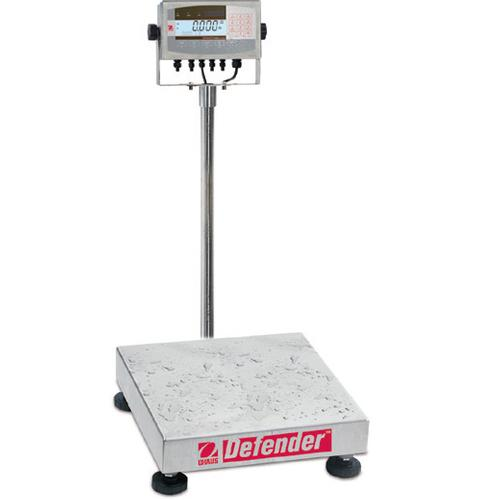 Ohaus D71XW250WX4 Defender 7000XW Extreme Square Washdown Scale (500 lb x 0.05 lb) 24 x 24 x 5 in Platform Size