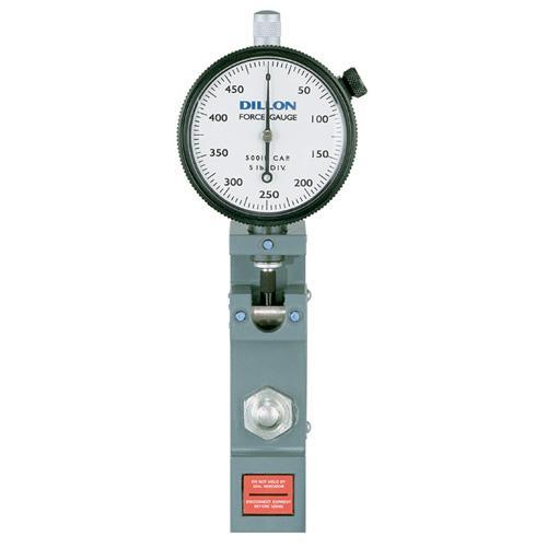Dillon 30354-0058, Low-Range Flat-Bottom Model U Force Gauge - (250 x 2.5 lb Capacity & Dial Divisions)