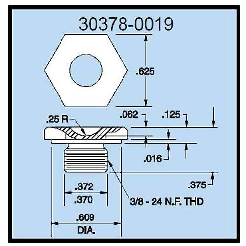 Dillon 30378-0019 Cup Compression Load Fitting for 500 - 1000 lb (500 kg) Capacity Force Gauges