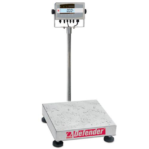 Ohaus D51XW250WX4 Defender 5000XW Extreme Square Washdown Scales, 500lb x 0.05lb