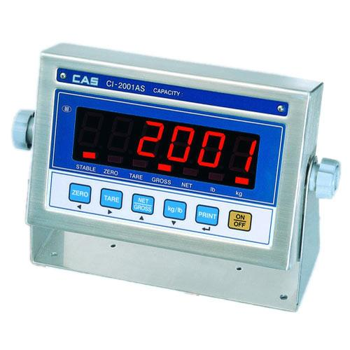 CAS CI-2001AS Stainless Steel Indicator with Bright LED Display, Legal for Trade