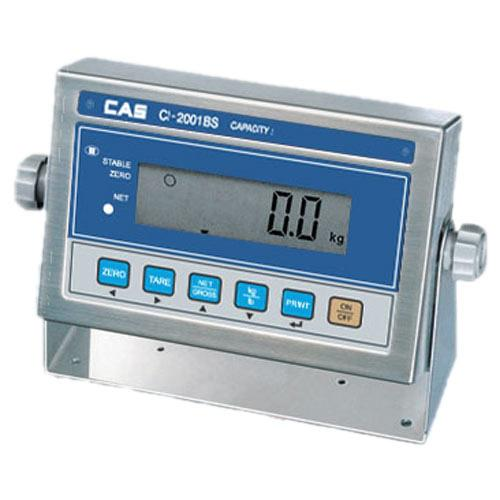 CAS CI-2001BS Stainless Steel Indicator with LCD Display and Backlight, Legal for Trade