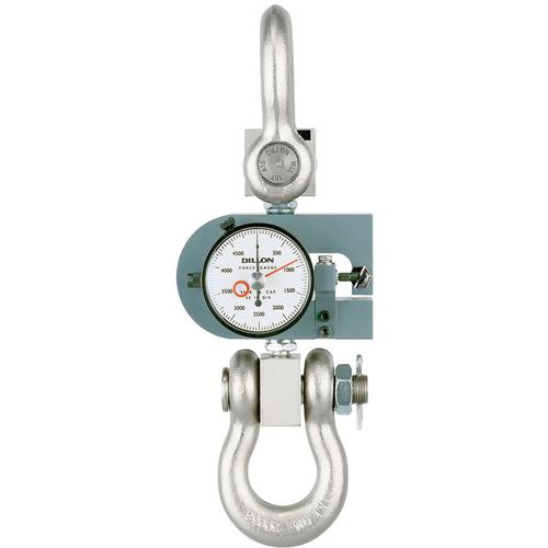 Dillon 30442-0052 X-ST Tension Force Gauge with Maximum Hand, 5000 x 50 lb