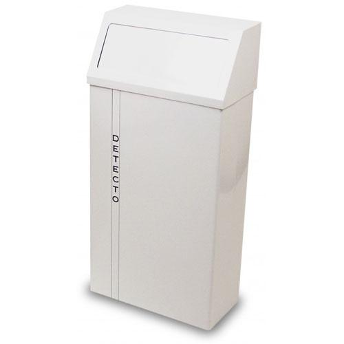 Detecto H-60 Wall-Mount Hanging Waste Receptacles White Baked Epoxy 60 qt