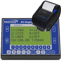 Intercomp 101225-RFX-P Handheld Weighing RFX Indicator with Bluetooth Printer