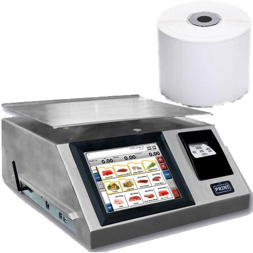 Torrey WLS-40L Label Printing Scale 40 x 0.01 lb with 1 case of TR-8020B 58 x 60mm Labels