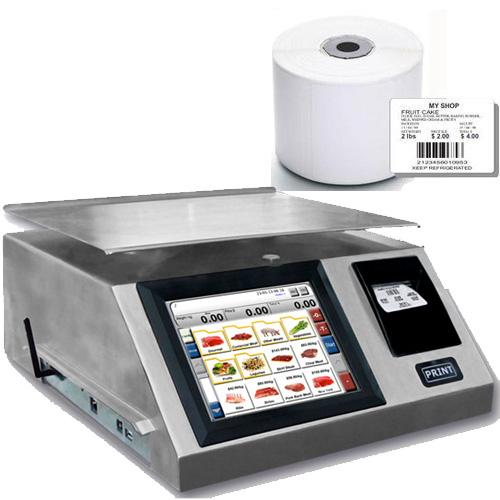 Torrey WLS-40L Label Printing Scale 40 x 0.01 lb with 1 case of TR-8010B 58 x 40mm Lables