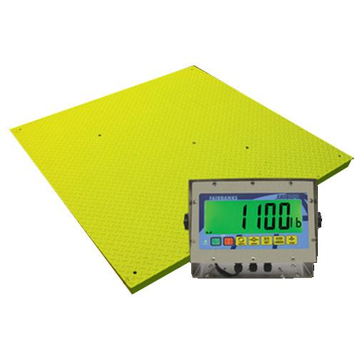 Fairbanks 93788 Yellow Jacket Legal For Trade Floor Scale With FB1100-SS 5000 x 1 lb