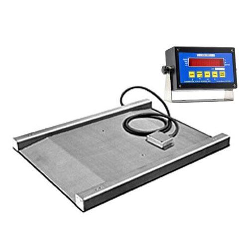 Cambridge S670236365K Model SS670-2 Series Legal For Trade Stainless Steel Weigher Scale Built In Single Ramp 36 x 36 x 1.5 / 5000 x 1 With Indicator