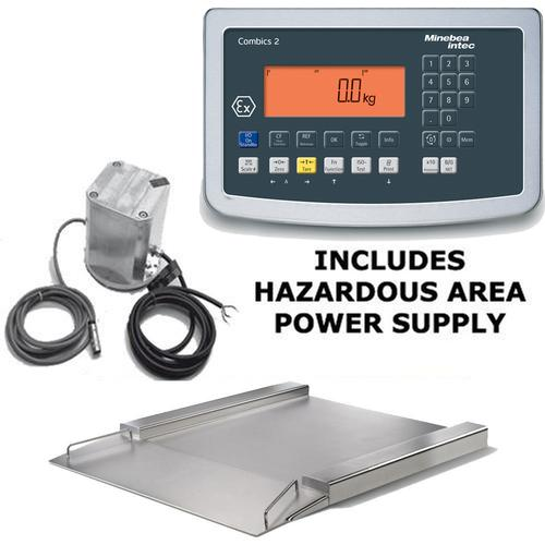 Minebea Combics Ex Hazardous Area Explosion Proof Flatbed Scale, 23.6 x 23.6, 660 x 0.02
