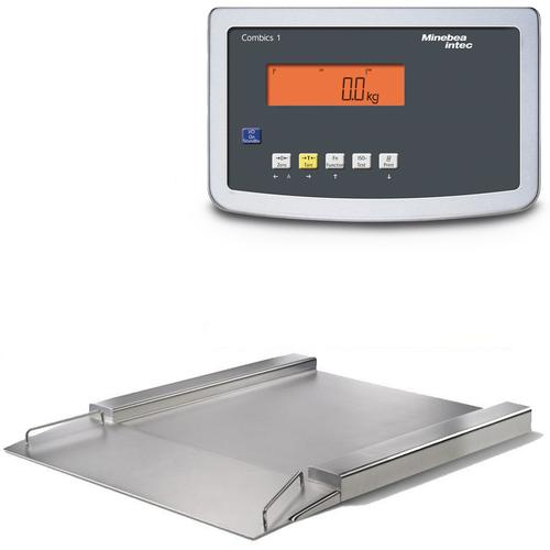 Minebea IFS4-1000NNK IF Stainless Steel Combics 1 Flat-Bed Scale With Indicator 49.2 x 49.2, 2220 X 0.1 lb