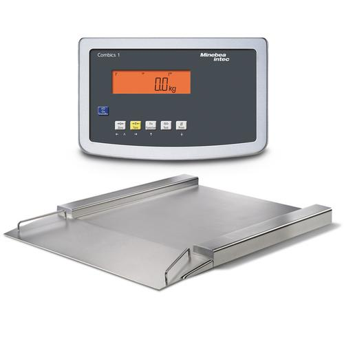 Minebea IFP4-150GGK IF Painted Steel Combics 1 Flat-Bed Scales With Indicator 23.6 x 23.6, 330 x 0.01 lb