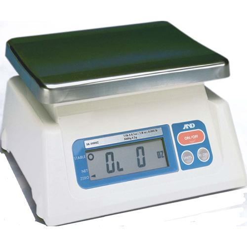 AND SK-2000 Portable Legal for Trade Digital Scale, 4.4 lb x 0.002 lb