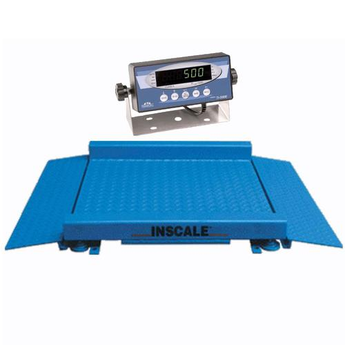 Inscale 44-2 Legal for Trade 4 x 4 ft Drum Scale, 2000 lb x 0.5 lb