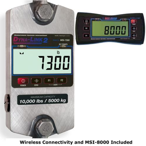 MSI 159168 MSI-7300 Dyna-Link 2  Dynamometer with Wireless Connectivity and MSI-8000 120,000 x 50 lb