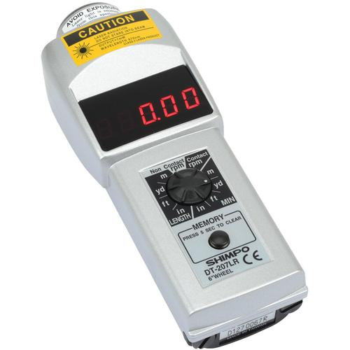 Shimpo DT-207LR-S12 Contact/Non-Contact Tachometer, LED, 12in wheel