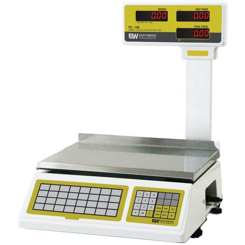 Easy Weigh PC-100-PL Legal for Trade Dual Range Price Computing Scale with Pole Display - 30 lbs x 0.01 lb/60 lbs x 0.02 lbs