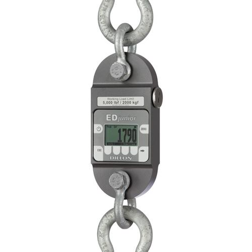 Dillon EDjr-iT(2.5K) 36190-0038 Dynamometer, w/2 shackles ,2500 x 2 lb