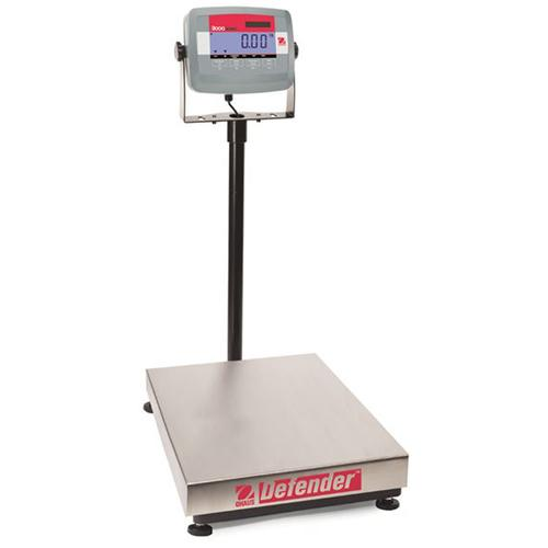 Ohaus D31P15BR Defender 3000 12 x 14 in Platform Scale  33 x 0.005 lb Legal for trade 30 x 0.01 lb