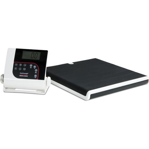 Rice Lake 160-10-7-BT Low-Profile Digital Physician Scale with Bluetooth 550 lb x 0.2 lb