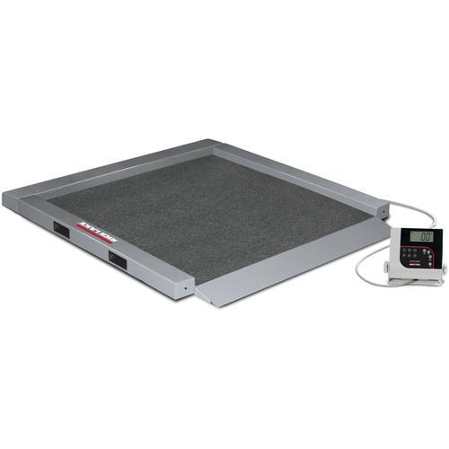 Rice Lake RL-350-5-BT Portable Bariatric Wheelchair Scale Single Ramp with Bluetooth 1000 lb x 0.2 lb