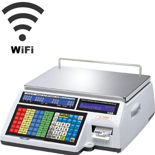 CAS CL5500B-60(W) Wireless Bench Legal for Trade Label Printing Scale 30 x 0.01 lbs and 60 x 0.02 lbs