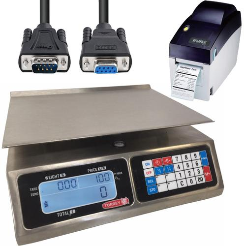 TorRey L-PC-40L, Legal for Trade Price Computing Scale with Printer and Cable 40 x 0.01 lb