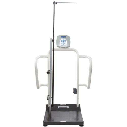 Health O Meter 1100KLHR-BT Digital Handrail Scale with built-in Pelstar wireless technology and Height Rod 1000 x 0.2 lb
