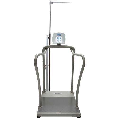Health O Meter 2101KLHR-BT Digital Handrail Scale with Height Rod  and Built-in Pelstar Wireless Technology 1000 lb x 0.2 lb