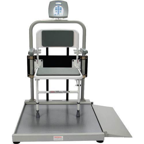 Health O Meter 2500CKG-BT Digital Wheelchair Scale with Fold Away Seat with Built-in Pelstar Wireless Technology KG Only 454 x 0.1 kg
