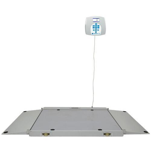 Health O Meter 2700KG-BT Portable 1092 mm x 1067 mm Wheelchair Scale with Built-in Pelstar Wireless Technology KG Only 454 x 0.1 kg