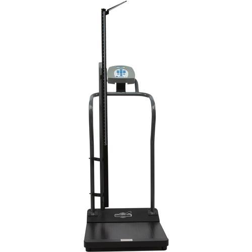 Health-O-Meter 3001KL-AMHR-BT Antimicrobial Digital Platform Scale with Height Rod and Built-in Pelstar Wireless Technology 1000 x 0.2 lb