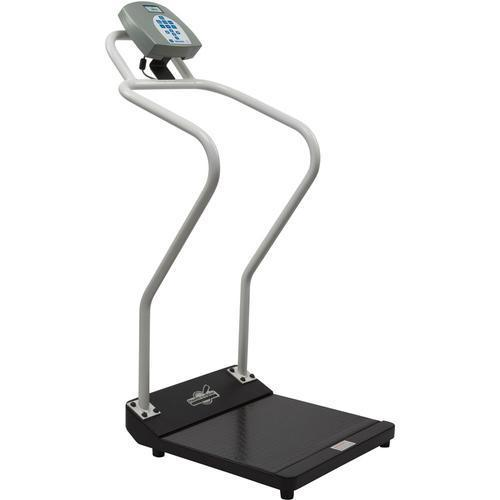 Health-O-Meter 3001KG-AMX-BT Antimicrobial Digital Platform Scale with Extended Handrails and Built-in Pelstar Wireless Technology KG Only 454 x 0.1 kg