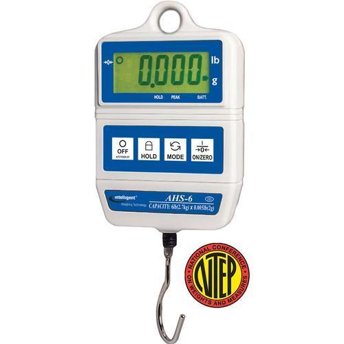 UWE AHS-60 (3-AHS-S600-022)  Intelligent-Weigh NTEP Hanging Scale 60 x 0.05 lb
