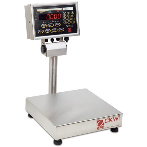Ohaus Champ CKW-15L55 Washdown Checkweighing Scale Legal for Trade, 15 kg x 2 g
