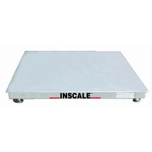 Inscale 33-10-S Stainless Steel Floor Scale, 3 x 3, 10000 x 2 lb