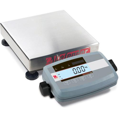 Ohaus D51P10QR5 Defender 5000 Low Profile Legal for Trade Scales Square, 25lb X 0.002lb