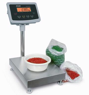 Acculab Exceleron electronic industrial bench scales are a terrific value - weighs in kilograms, pounds, ounces with parts counting and large LCD remote display.