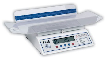 Designed to be used with utmost ease, the Dectecto 6745 digital infant scale can weigh even the most active babies.