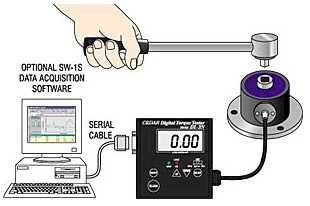Imada DI-3N-IP Digital Torque Tester with Remote Sensors