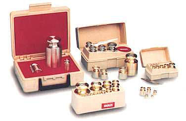 Ohaus calibration weights and calibration mass sets
